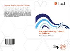 Bookcover of National Security Council of Pakistan