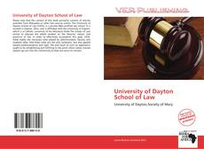 Bookcover of University of Dayton School of Law