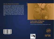 Bookcover of University of Dayton Research Institute