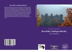 Beerfelde (Adelsgeschlecht) kitap kapağı