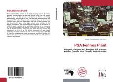 PSA Rennes Plant kitap kapağı