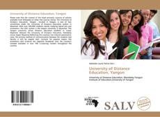 University of Distance Education, Yangon kitap kapağı