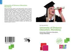 Copertina di University of Distance Education, Mandalay