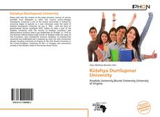 Bookcover of Kütahya Dumlupınar University