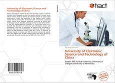 Bookcover of University of Electronic Science and Technology of China
