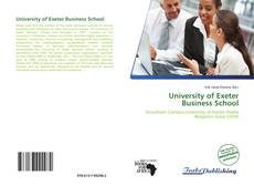Bookcover of University of Exeter Business School