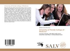 Bookcover of University of Florida College of Medicine