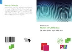 Bookcover of Water in California