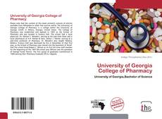 University of Georgia College of Pharmacy的封面
