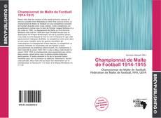 Championnat de Malte de Football 1914-1915 kitap kapağı