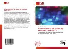 Portada del libro de Championnat de Malte de Football 1916-1917
