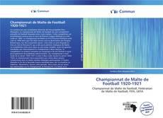 Portada del libro de Championnat de Malte de Football 1920-1921