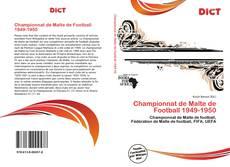 Portada del libro de Championnat de Malte de Football 1949-1950