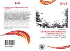 Bookcover of Championnat de Malte de Football 1970-1971