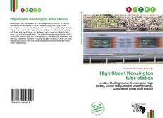 Copertina di High Street Kensington tube station