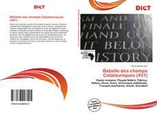 Capa do livro de Bataille des champs Catalauniques (451)