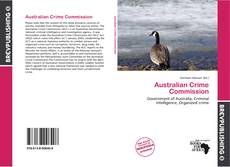 Capa do livro de Australian Crime Commission