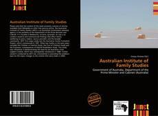 Buchcover von Australian Institute of Family Studies