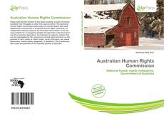 Capa do livro de Australian Human Rights Commission
