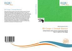 III Corps ( United States)的封面