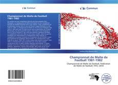 Portada del libro de Championnat de Malte de Football 1981-1982