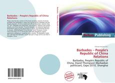Portada del libro de Barbados – People's Republic of China Relations