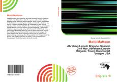 Bookcover of Matti Mattson