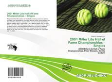 2001 Miller Lite Hall of Fame Championships – Singles kitap kapağı