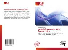 Bookcover of Imperial Japanese Navy Armor Units
