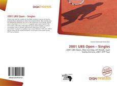 Bookcover of 2001 UBS Open – Singles