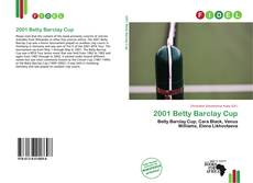 Bookcover of 2001 Betty Barclay Cup