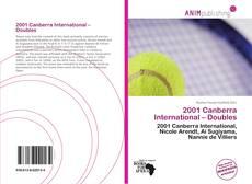 2001 Canberra International – Doubles kitap kapağı