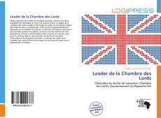 Buchcover von Leader de la Chambre des Lords
