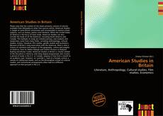 Couverture de American Studies in Britain