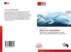 Buchcover von Hans von Obstfelder