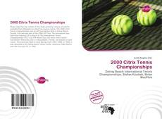 Bookcover of 2000 Citrix Tennis Championships