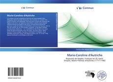 Buchcover von Marie-Caroline d'Autriche