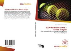 Bookcover of 2000 Rome Masters – Men's Singles