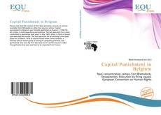 Buchcover von Capital Punishment in Belgium