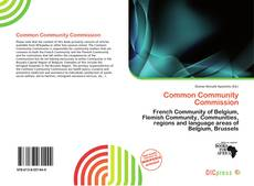 Bookcover of Common Community Commission