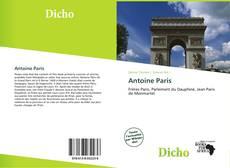 Couverture de Antoine Paris