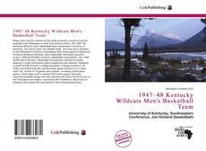 Buchcover von 1947–48 Kentucky Wildcats Men's Basketball Team