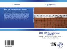Bookcover of 2000 RCA Championships – Doubles
