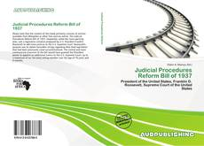 Bookcover of Judicial Procedures Reform Bill of 1937