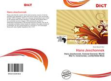 Bookcover of Hans Jeschonnek