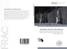 Capa do livro de Élisabeth de Saxe-Altenbourg