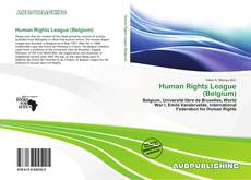 Capa do livro de Human Rights League (Belgium)