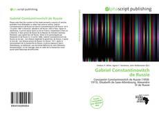 Bookcover of Gabriel Constantinovitch de Russie