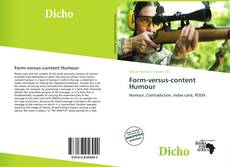 Bookcover of Form-versus-content Humour