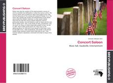 Capa do livro de Concert Saloon